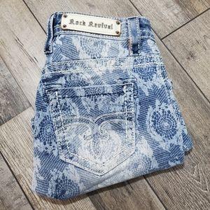 Rock revival Lydia print shorts